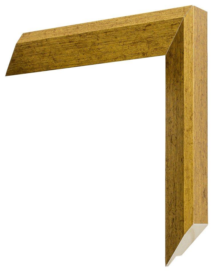 Moldura chanfrada com acabamento laqueado. Dimensão da Moldura (LxA): 2,8x2,1 cm.