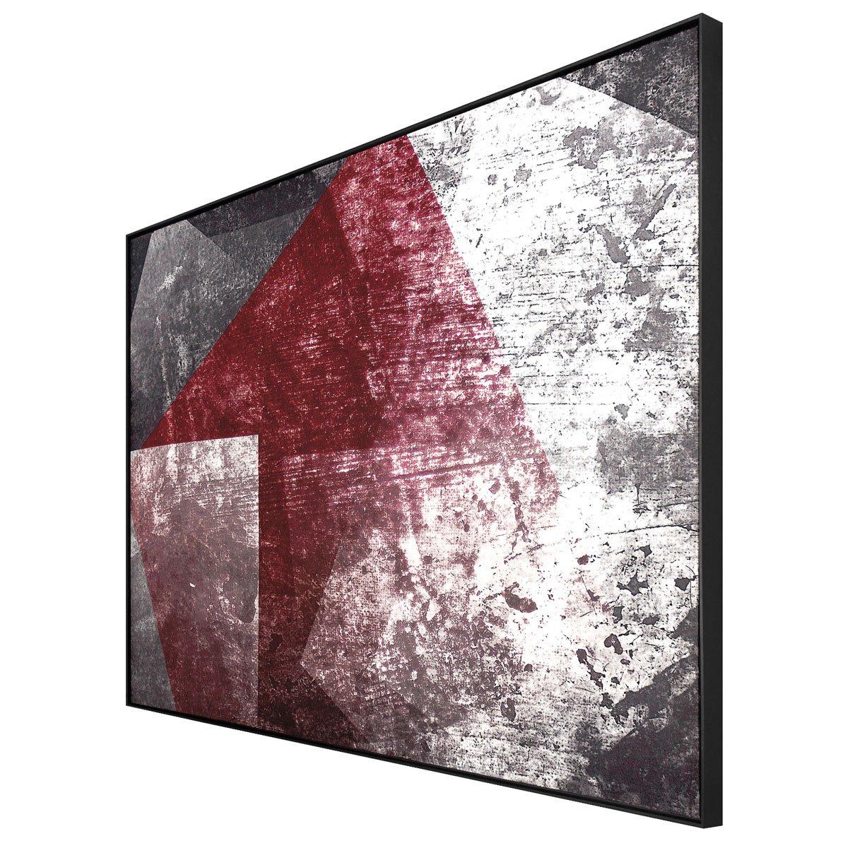 Quadro Tela com Moldura Preta Arte Moderna Abstrata 190x120cm