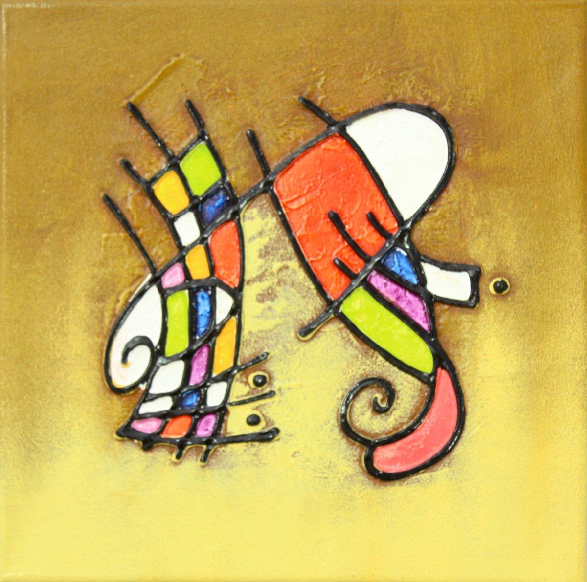 f74ae1cfe Quadro Decorativo Abstrato Pintura em Tela 30x30cm - Decore Pronto
