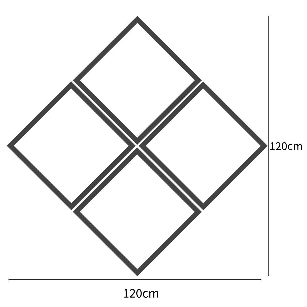 Tamanho personalizável (Largura x Altura): 120x120 cm
