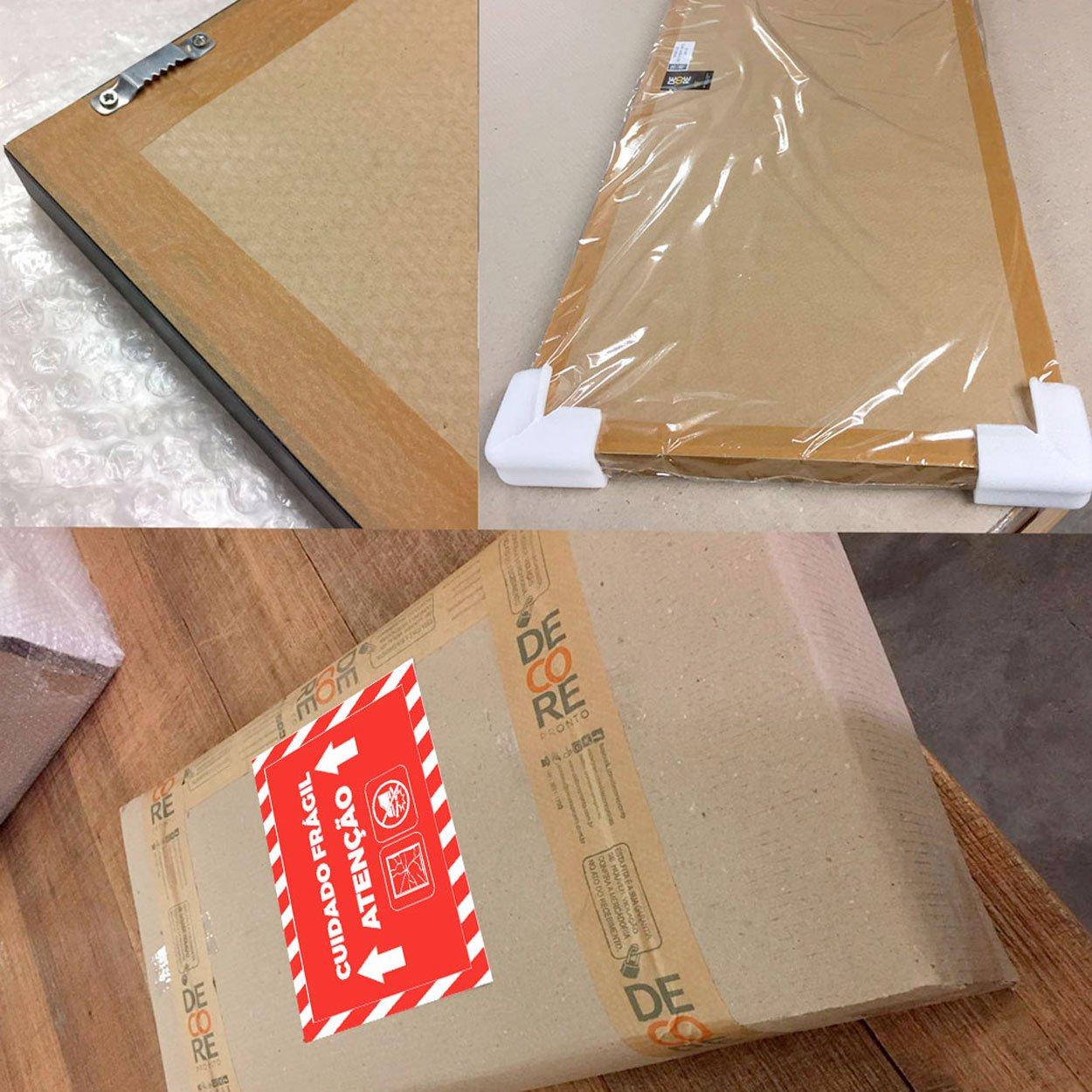 Conjunto Kit com 3 Quadros Árvore Ipê Branco 140x100 cm.