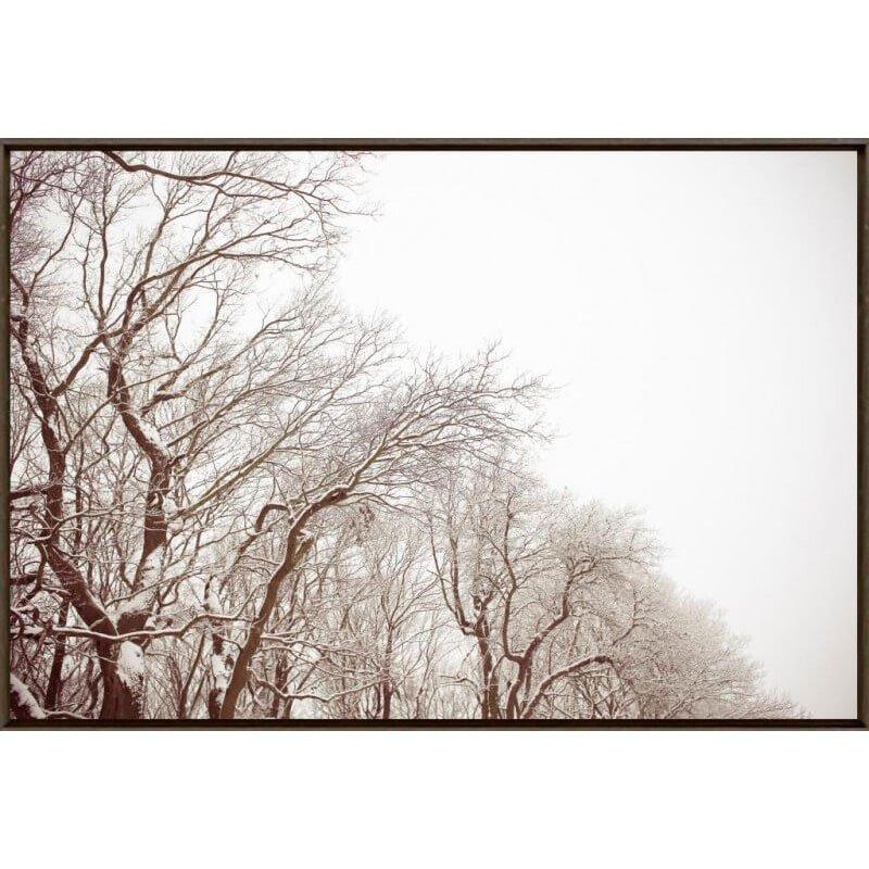 a1f227393 Quadro Tela com Moldura Paisagem de Inverno Árvores sem Folhas 150x100cm ...