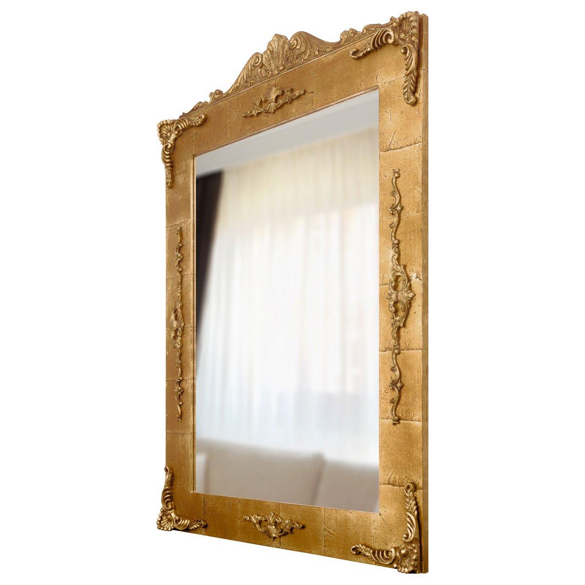 Detalhes - Espelho com moldura e rococós.