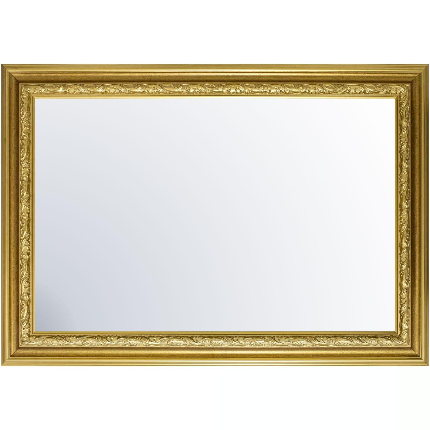Espelho Cristal no Estilo Clássico Moldura na Cor Ouro