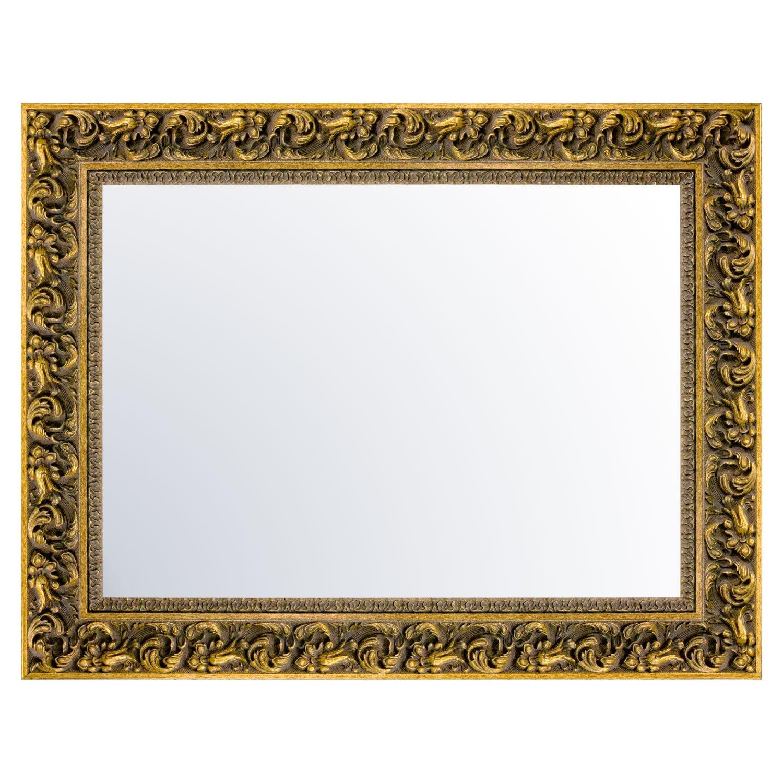 Espelho Decorativo com Moldura Dourada Sombreada