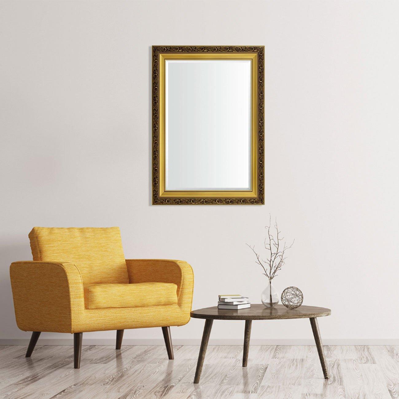 Espelho Cristal Decorativo Moderno na Cor Ouro - DPAD0311