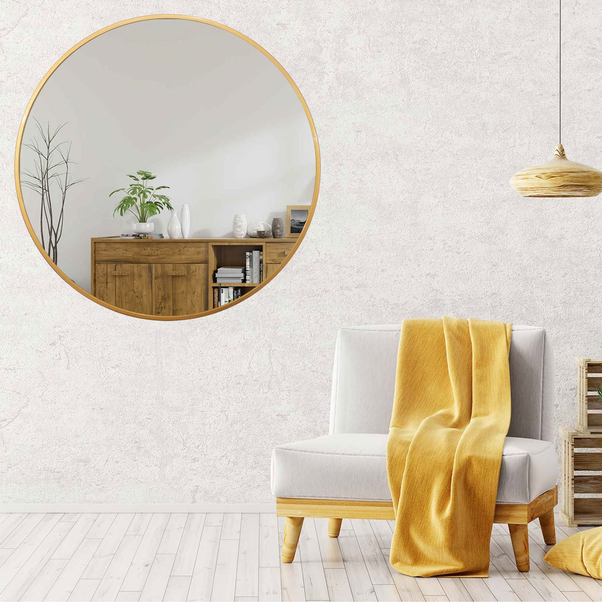 Espelho Decorativo Redondo - Decore Pronto.