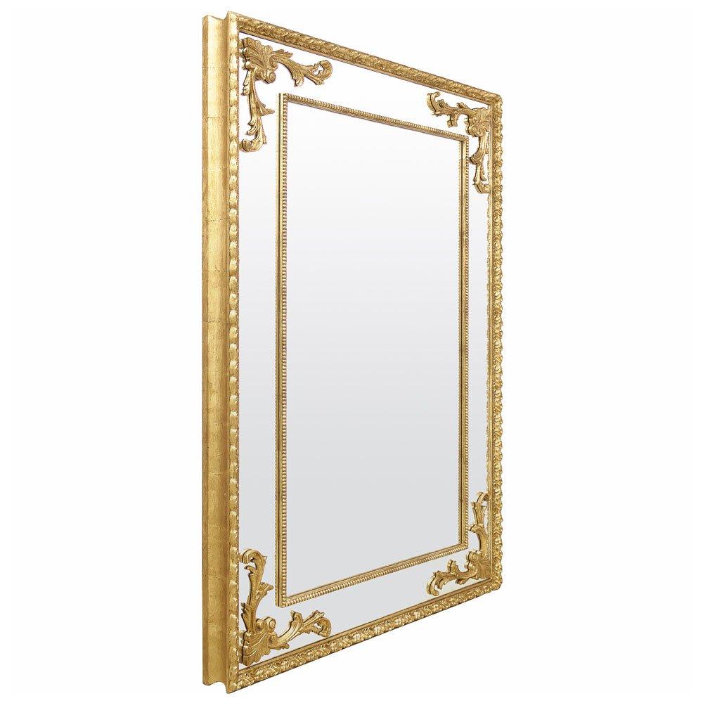 Vista lateral do espelho.