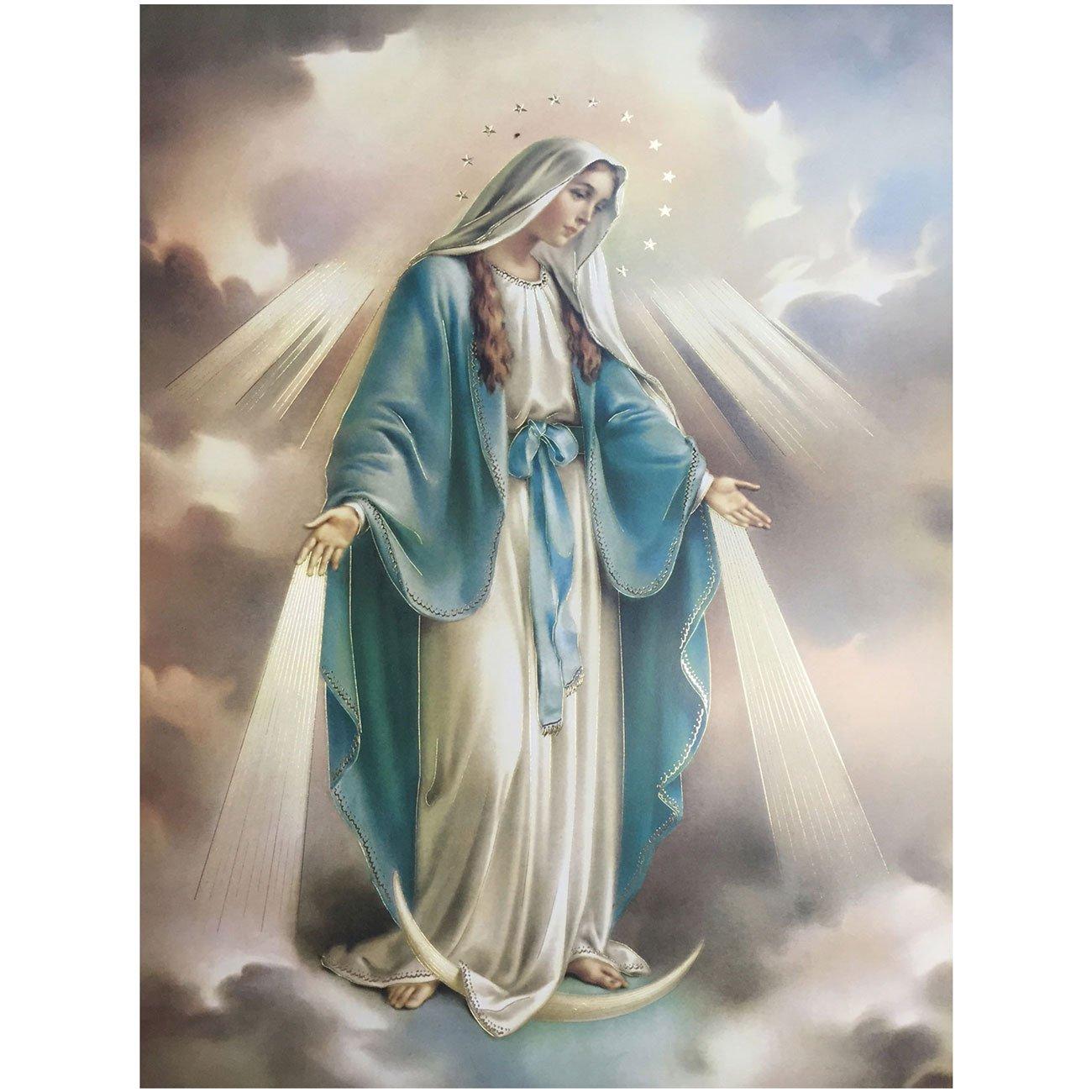 Gravura Para Quadros Nossa Senhora Da Medalha Milagrosa 49x68cm