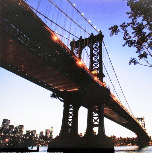 Gravura para Quadros Ponte Ponte Manhattan New  York 30x30cm