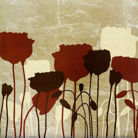 Gravura para Quadros Floral Simplicidade VI - 30x30cm