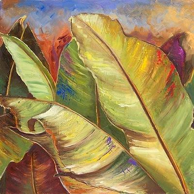 Gravura para Quadros Folhas de Bananeira 30x30cm
