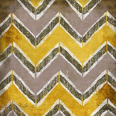 Gravura Abstrata para Quadros  Amarela e Cinza 30x30cm