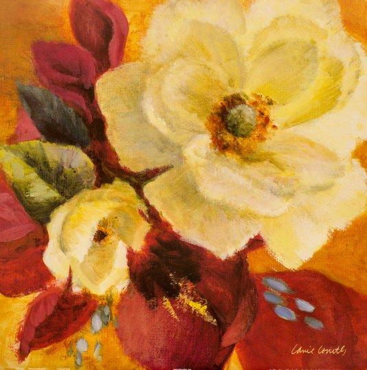 Gravura para Quadros Floral Blooms II - 46x46cm