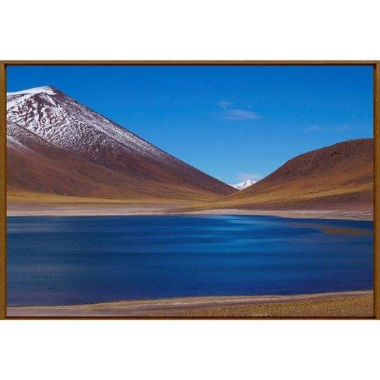 Quadro Tela com Moldura Paisagem Laguna Altiplânica no Chile 150x100cm