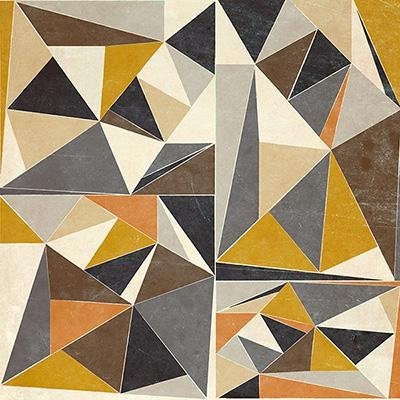 Gravura para Quadros Abstrata Polígonos Coloridos II - 30x30cm