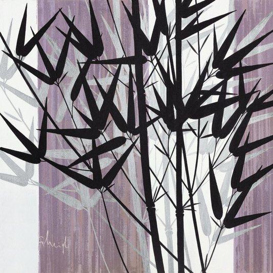 Gravura para Quadros Bambus Ornamentais 70x70cm