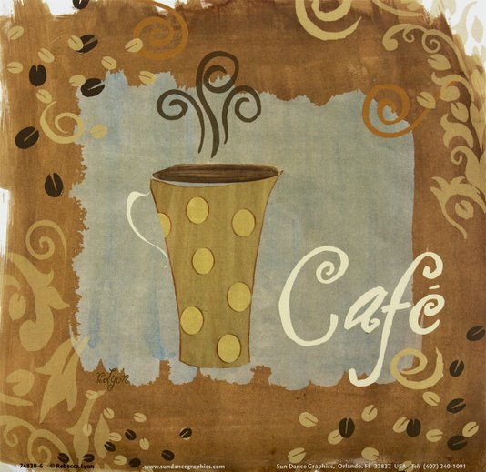 Gravura para Quadros Xícara de Café 15x15cm