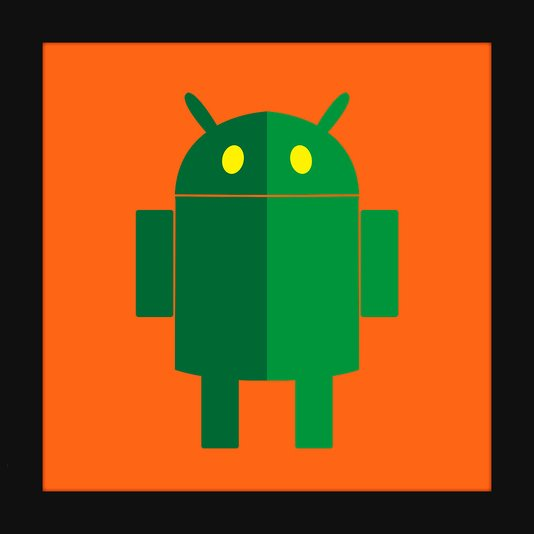 Quadro Decorativo Poster Minimalista Ilustração Android 30x30cm