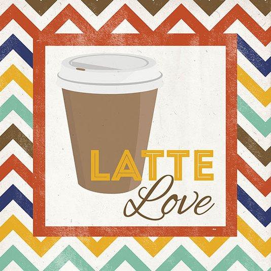 Gravura para Quadros Latte Love 30x30cm