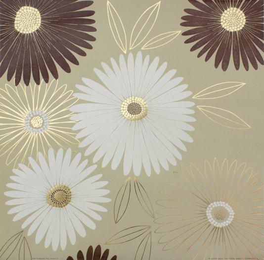 Gravura para Quadros Flores Vibrantes - 50x50cm