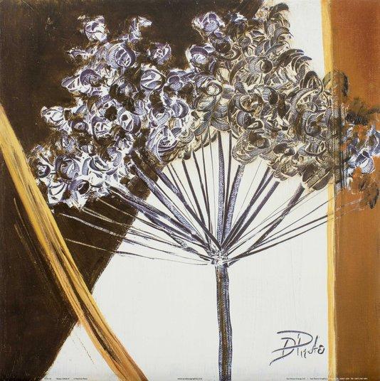 Gravura para Quadros Floral Faça um Desejo II - 46x46cm