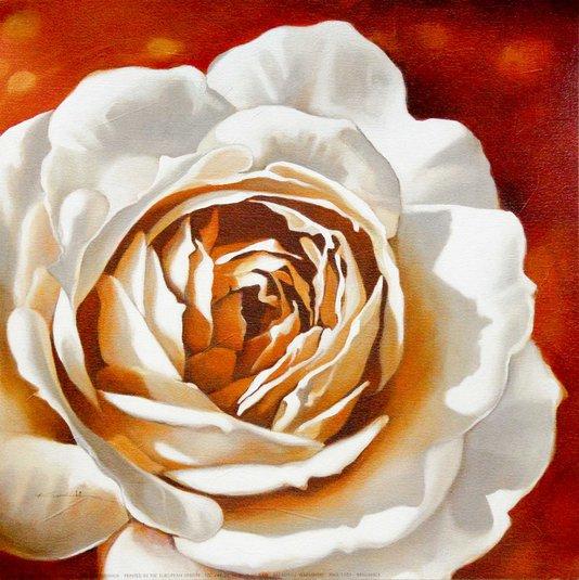 Gravura para Quadros Flor Brilhante 30x30cm