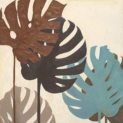 Gravura para Quadros Folhas Coloridas 46x46cm