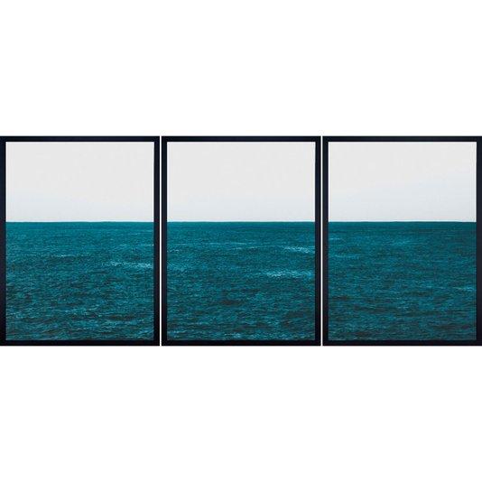 Conjunto de Quadros Décor Oceano Kit com 3 Quadros de 60X80cm