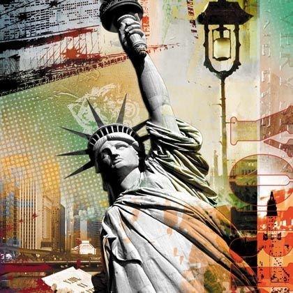 Quadro Tela Impressa Estátua da Liberdade New York 60x60cm