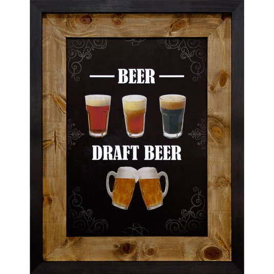 Quadro Decorativo de Cerveja Rústico Beer II, Draft Beer 70x90cm