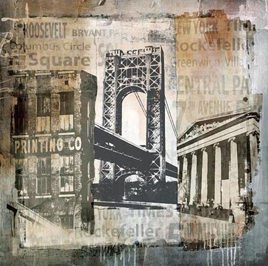 Quadro Tela Impressa Nova York Monumentos 60x60cm
