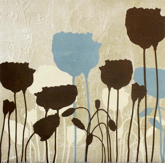 Gravura para Quadros Floral Simplicidade Iv - 30x30cm