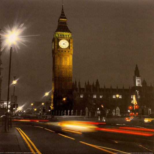 Gravura para Quadros The Big Ben 30x30cm