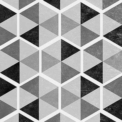 Gravura em Preto e Branco para Quadros Formas Geométricas 30x30cm
