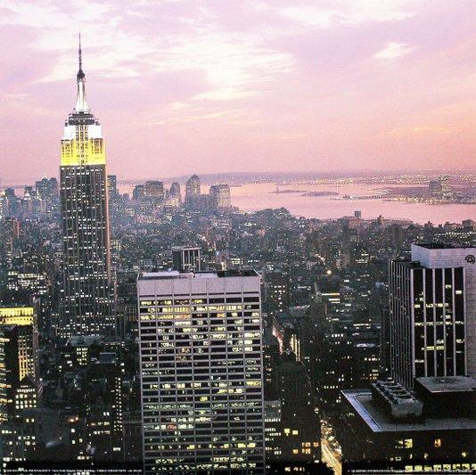 Gravura para Quadros Nova York Edifício Empire State Building 30x30cm