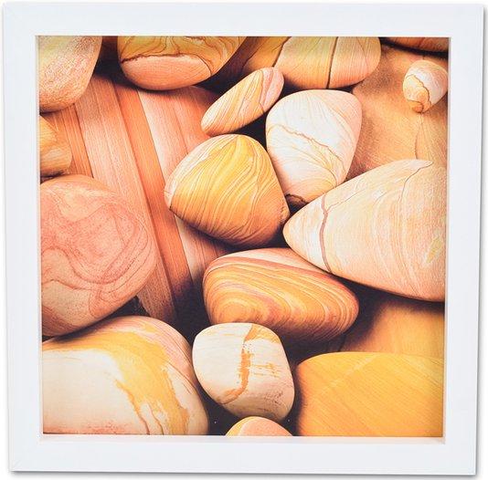 Quadro Decorativo Pedras de Praia 30x30cm DP080