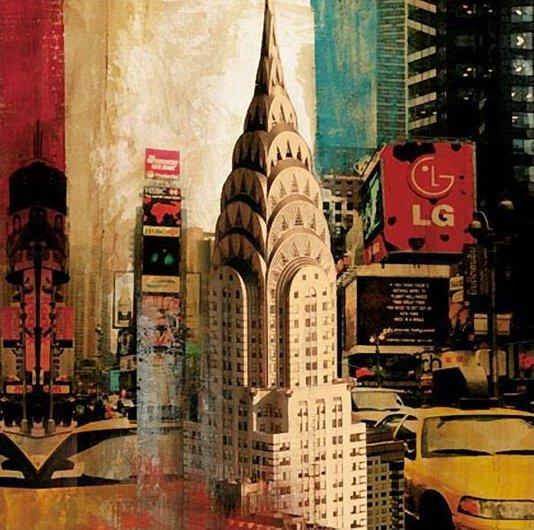 Quadro Tela Impressa Chrysler Building Nova York 60x60cm