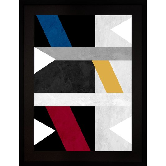 Quadro Abstrato Decor Formas Geométricas 60x80cm