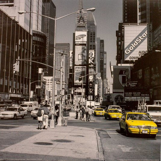 Gravura para Quadros Nova York Times Square 30x30cm