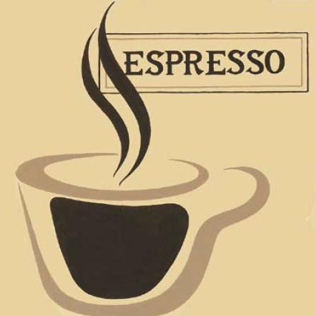 Gravura para Quadros Café Espresso 30x30cm