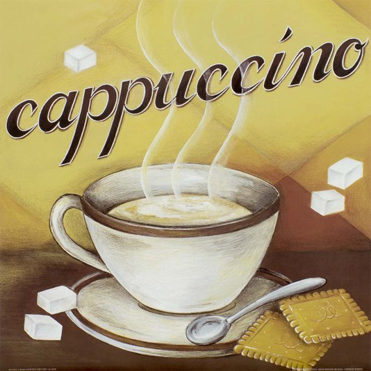 Gravura para Quadros Cappuccino 40x40cm