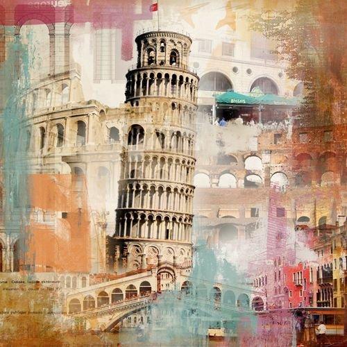 Quadro Tela Decorativa Torre de Pisa Itália 60x60cm