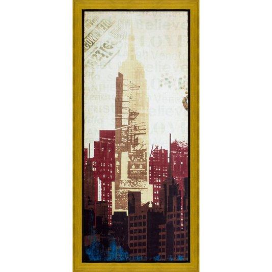 Quadro Decorativo Impressão Digital em Tela Prédios de New York 60x130cm