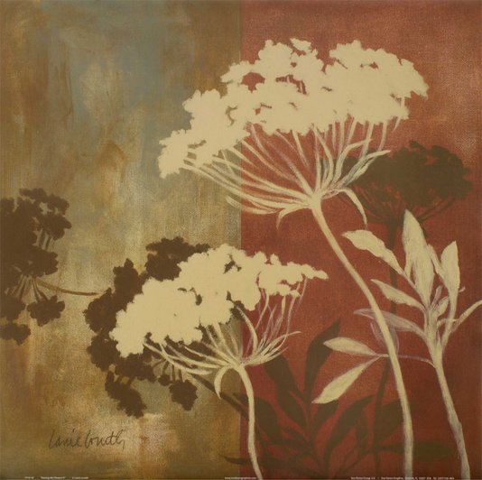 Gravura para Quadros Floral - Entre as Flores II - 46x46cm