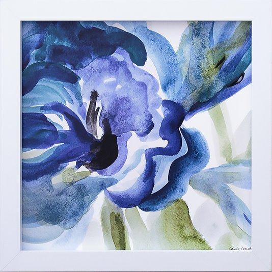 Quadro Decorativo Abstrato Azul Delicado II -  30x30cm