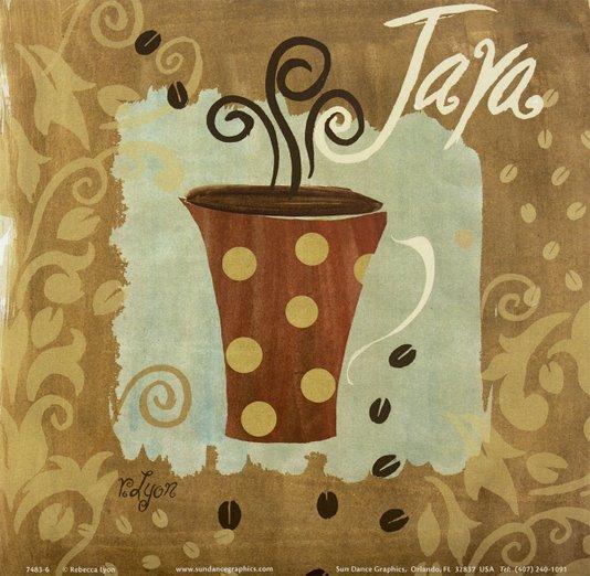 Gravura para Quadros Xícara de Café - Java 15x15cm