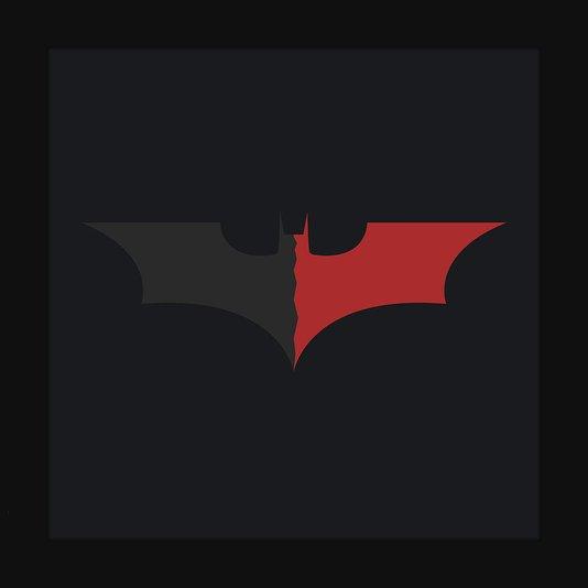 Quadro Decorativo Poster Minimalista Ilustração Morcego Batman 30x30cm