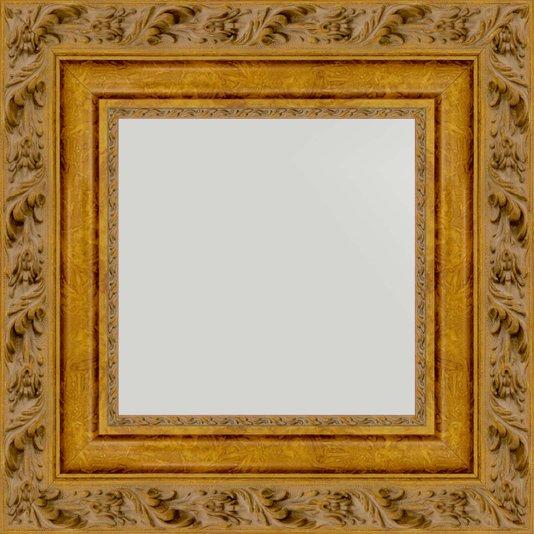 Espelho com Moldura cor Dourado Envelhecido 50x50 cm