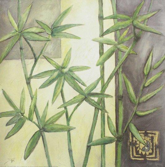 Gravura para Quadros Bambu 70x70cm